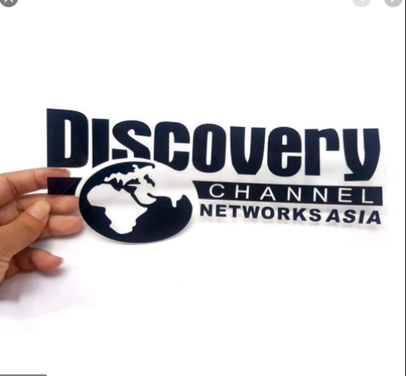 Hình dán DISCOVERY CHANNEL  ( Kích thước 25cm x 9.5cm )