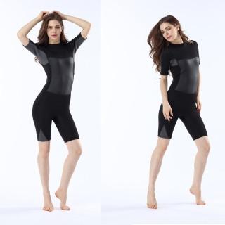 Bộ đồ lặn biển liền thân cộc tay nữ dày 2mm POPO quần áo lặn biển nữ giữ ấm cơ thể thumbnail