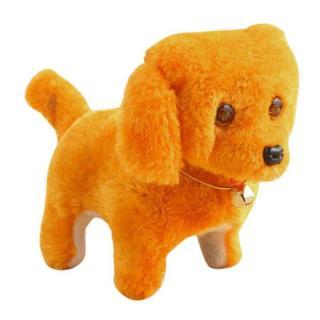 Đồ chơi chú chó vàng biết đi và sủa dùng pin có đèn Chất liệu nhựa và kim loại Sử dụng 2 pin AA Thiết kế đáng yêu thumbnail