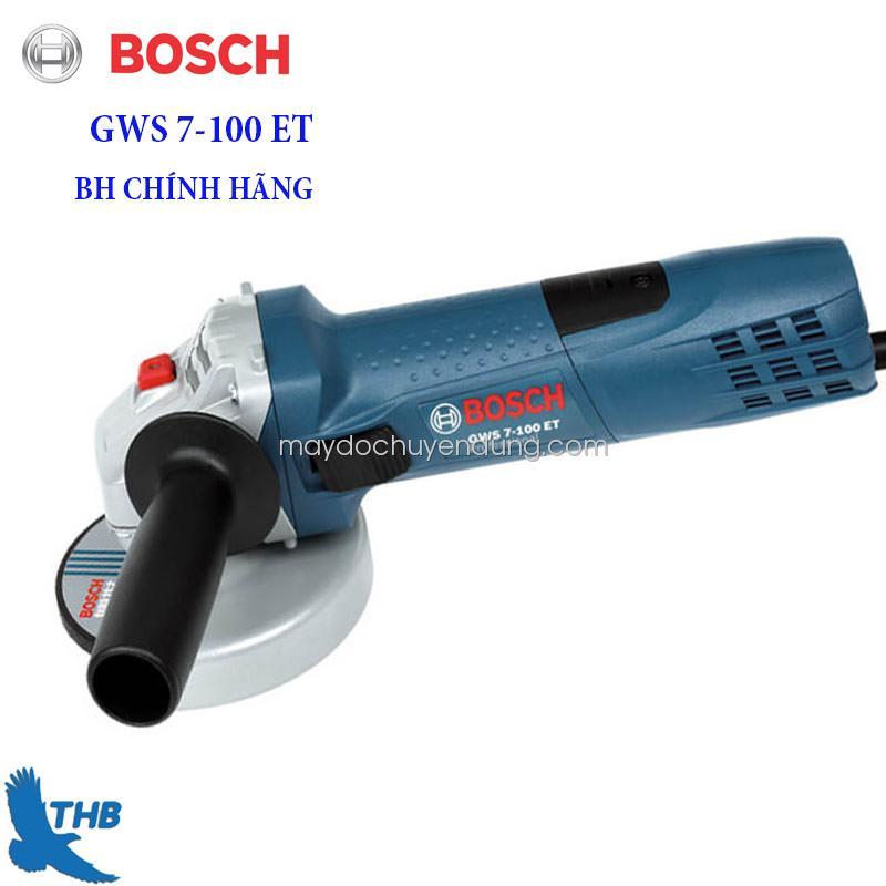 Máy mài góc Bosch GWS 7-100 ET ( Tặng đá cắt mài)