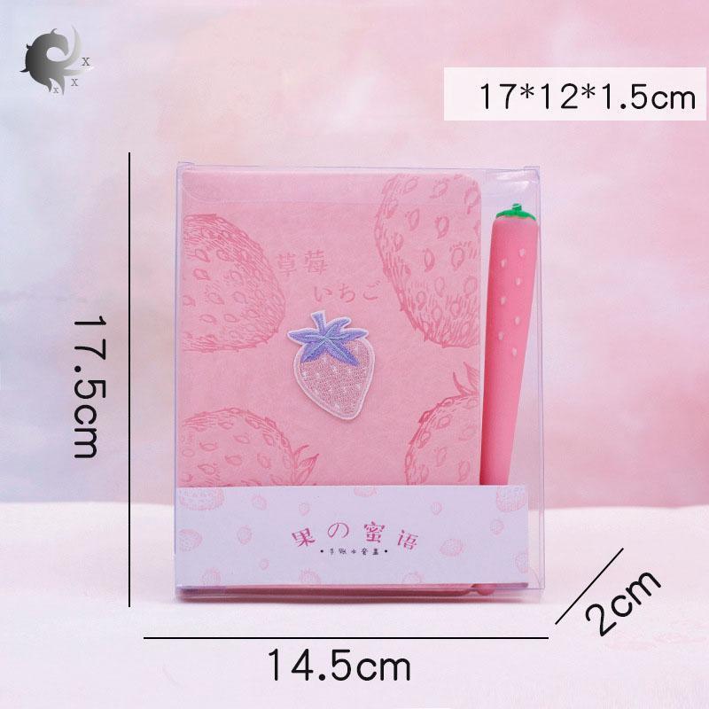 Mua (1 cái) cẩm nang nhỏ tươi, sáng tạo, đơn giản và tươi mới, sổ tay, sổ ghi chép, nhật ký, trái tim cô gái màu hồng, băng keo, bút cổ tích, chất liệu giấy tráng cao cấp (17,5 * 14,2 * 2cm)