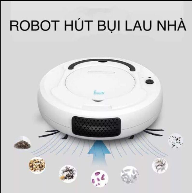 [SALE HỦY DIỆT] Robot Hút Bụi,Lau Nhà, Máy Hút Bụi Thông Minh Robot hút bụi lau nhà thông minh Giá Rẻ,Đường Di Chuyển Làm Sạch Thông Minh, Bước Tiến Đột Phá Của Nền Công Nghệ 4.0-Bh 12  Tháng