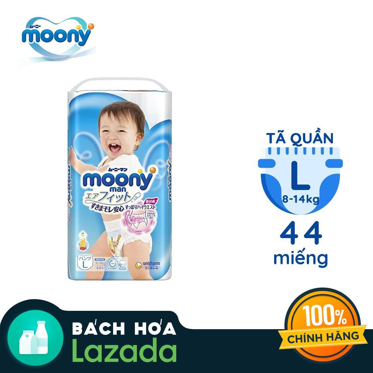 Tã Quần Moony Size L44 Dành Cho Bé Trai (9 - 14kg) Đang Ưu Đãi