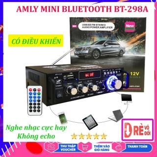 Âmly Bluetooth Mini Nghe Nhac Giá Rẻ - Công Suất SX 2 Kênh 600W, Hỗ Trợ Khe Cắm Thẻ Nhớ, Tự động lọc nhiễu và tạp âm , Âm thanh mượt mà - Âm ly hát karaoke được không - Chỉnh Amly Bluetooth - Yenny thumbnail