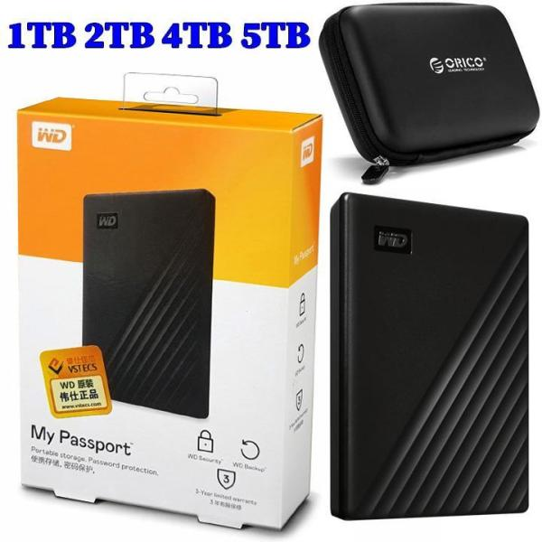 Bảng giá Combo ổ cứng di động hàng nhập khẩu USB3.0 WD My Passport 4TB, 2TB hoặc 1TB + túi chống sốc, chống nước Orico PHB-25 SD36 SD37 SD38 Phong Vũ
