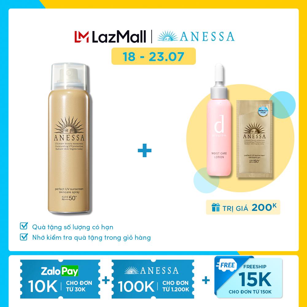 Kem chống nắng dạng xịt dưỡng da bảo vệ hoàn hảo ANESSA Perfect UV Sunscreen Skincare Spray SPF 50+ PA++++