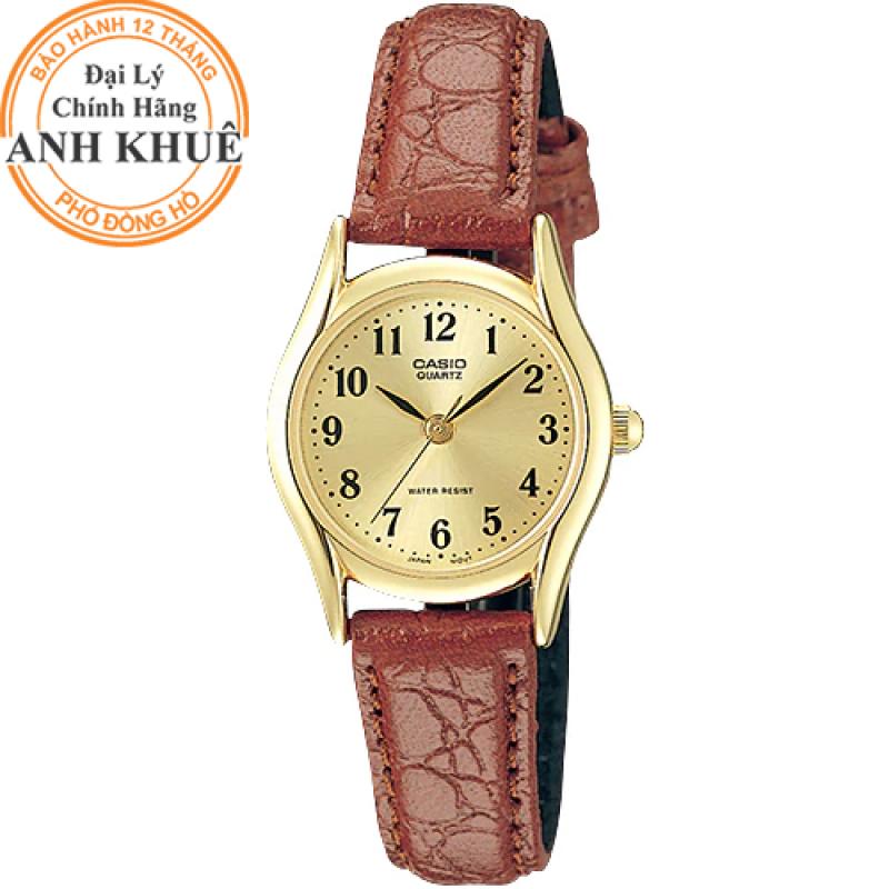 Đồng hồ nữ dây da Casio Anh Khuê LTP-1094Q-9BRDF