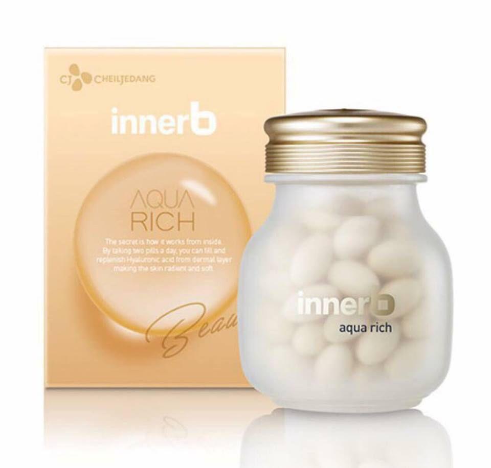 Viên Uống Cấp Nước Bổ Sung Collagen Giúp Da Sáng, Căng Bóng, Săn Chắc CJ Innerb Aqua Rich Nhật Bản