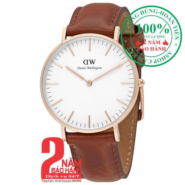 Đồng hồ thời trang Daniel Welington Classic St Mawes- 36mm - Màu vàng hồng (Rose Gold) DW00100035