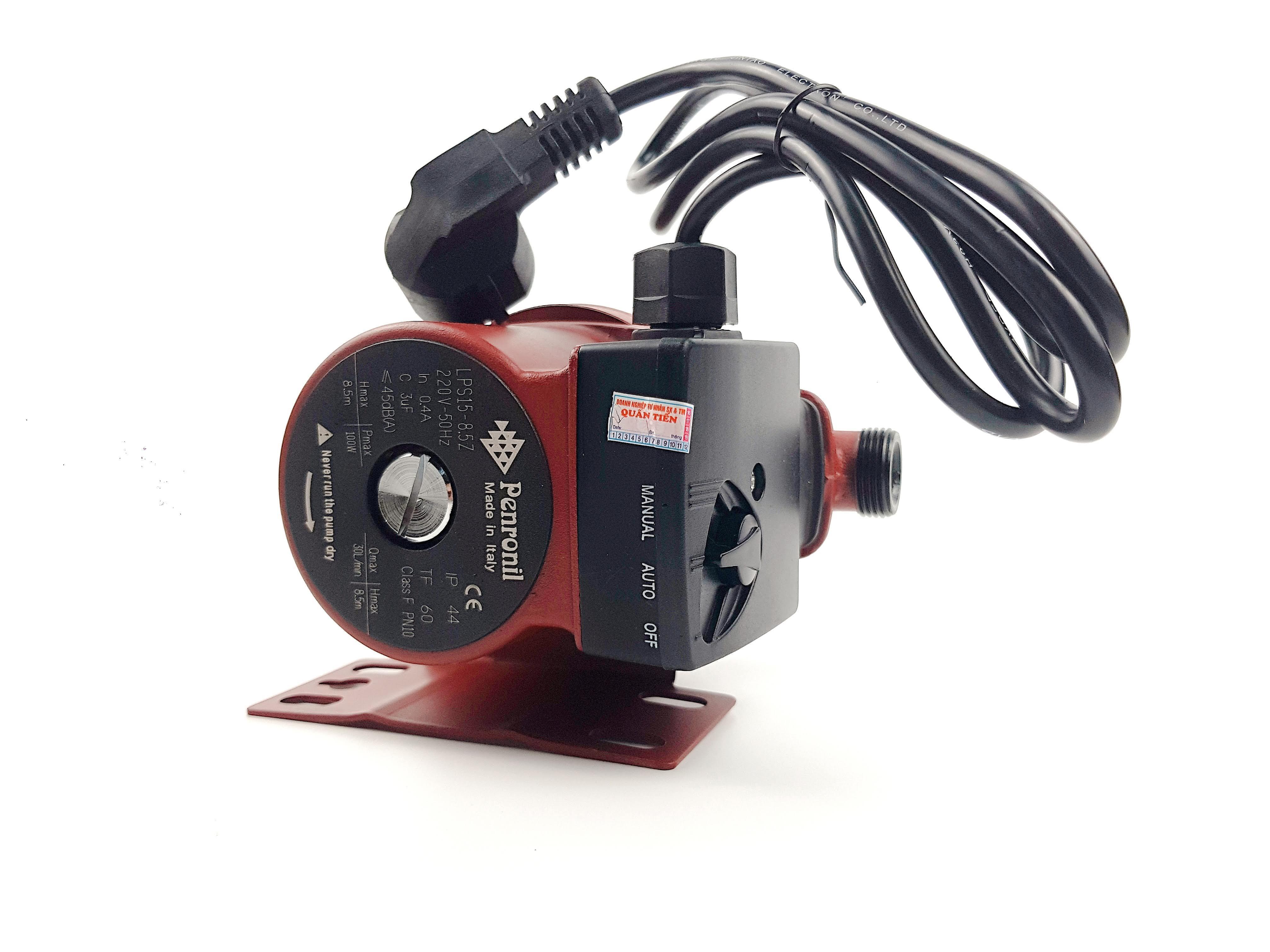 Máy bơm PERONI tăng áp tự động cho dòng nước yếu, nhà WC, bình nóng lạnh, máy giặt công suất 100w