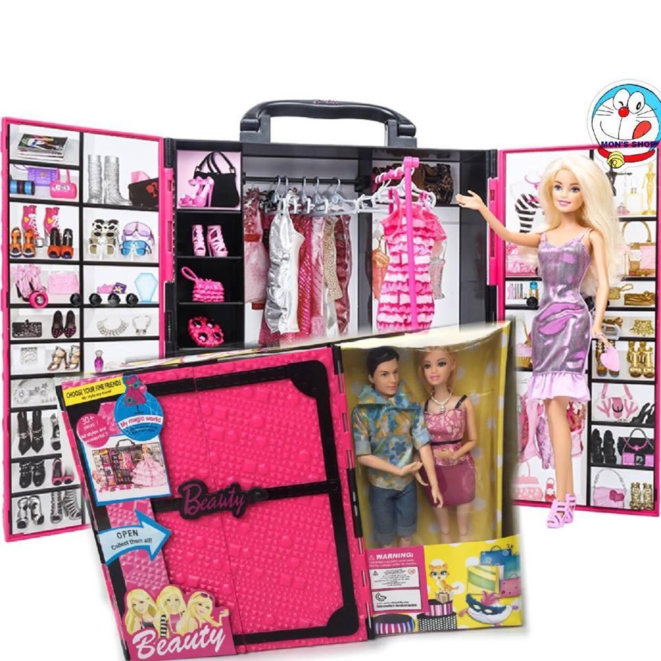 Giá Ưu Đãi Hôm Nay Để Có Ngay Đồ Chơi Tủ đồ Quần áo Búp Bê Barbie Và Ken Gồm 30 Phụ Kiện Siêu độc