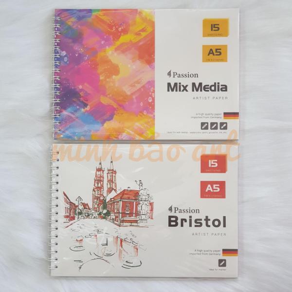 Mua SỔ VẼ PASSION - GIẤY NHẬP KHẨU TỪ ĐỨC 160 GSM 20 TỜ/ 200 GSM 15 TỜ/ 300 GSM 15 TỜ (BRISTOL, MIX MEDIA)