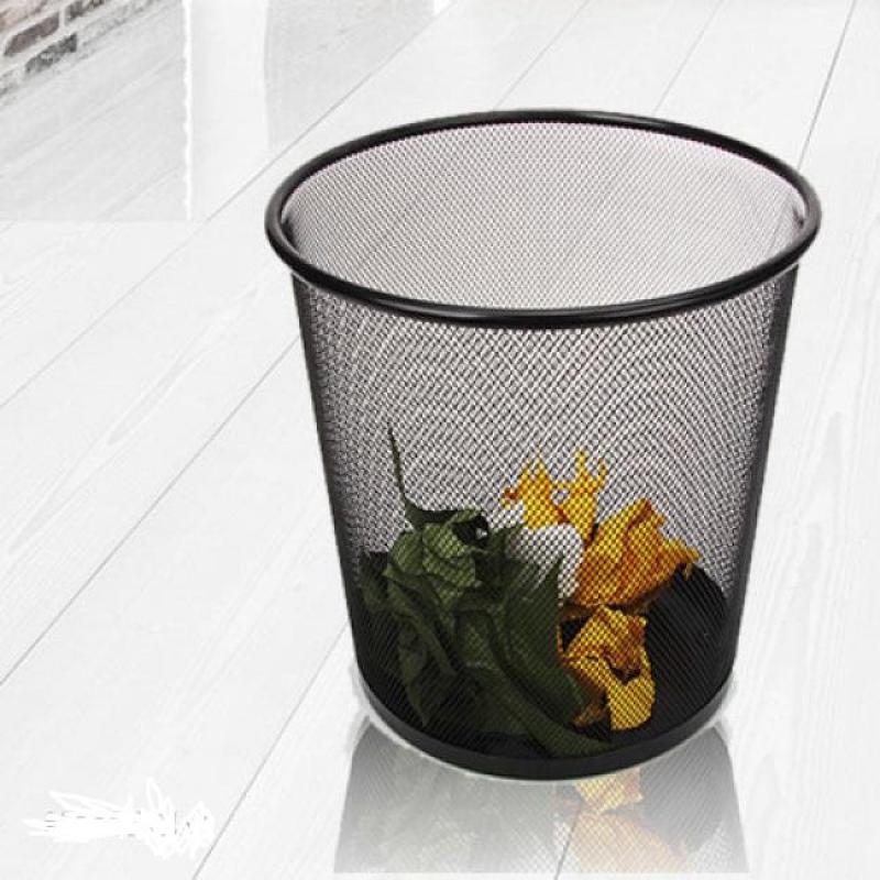 Thùng rác tròn nhỏ gọn dạng đan lưới siêu bền, phù hợp cho văn phòng, khách sạn, nhà ở,..
