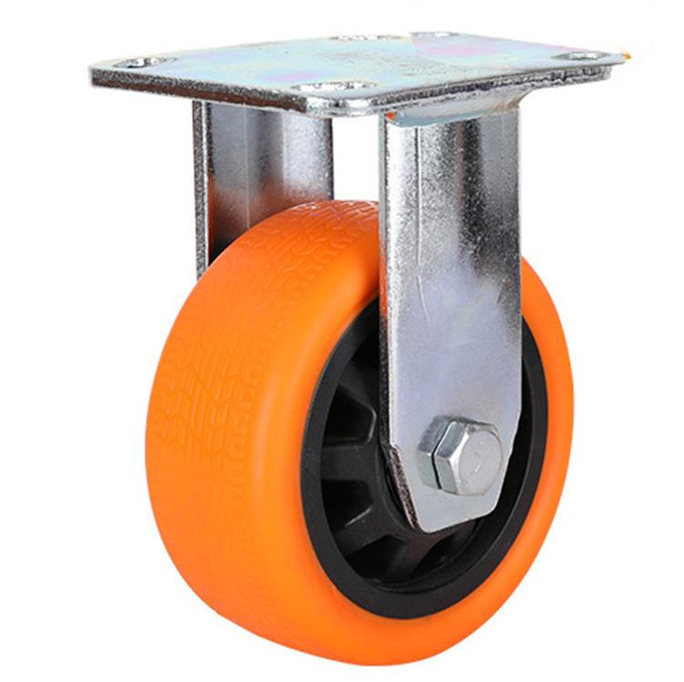 Bánh xe đẩy hàng - bánh xe đẩy công nghiệp PA - PVC 100mm