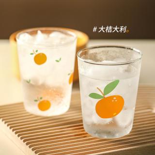 Cốc thủy tinh dễ thương ins yoholoo cốc nước cốc cà phê chịu nhiệt họa tiết trái cây hoạt hình, quà tặng trong suốt cốc sữa, cốc soda mùa hè
