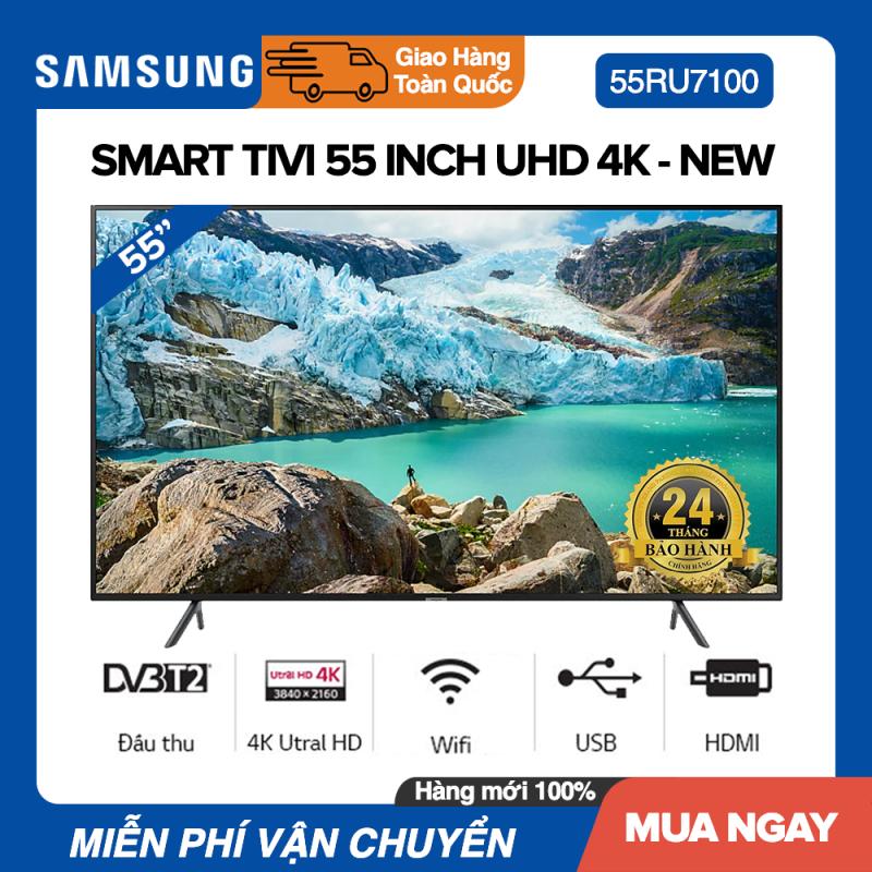 Bảng giá Smart Tivi Samsung 55 inch UHD 4K - Model UA55RU7100 Bộ xử lý UHD Processor, UHD Dimming, Bluetooth, Youtube - Bảo Hành 2 Năm