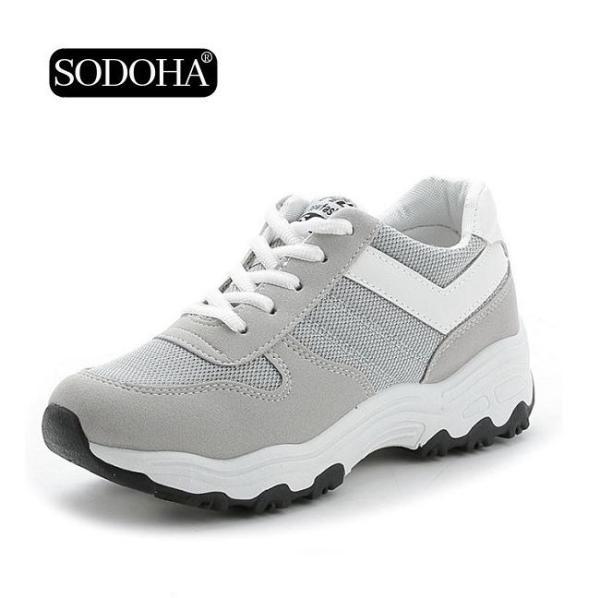 Giày Sneaker Thể Thao Nữ SODOHA Siêu Hot Y3-685X Màu Xám