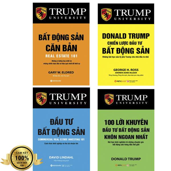 Combo 4 Sách Bất Động Sản Donald Trump: Bất Động Sản Căn Bản + Chiến Lược Đầu Tư Bất Động Sản + 101 Lời Khuyên BĐS + Đầu Tư Bất Động Sản + [Tặng Bookmark]
