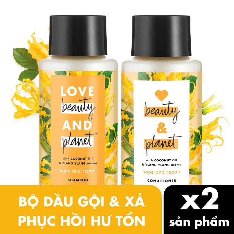 Combo phục hồi tóc hư tổn dầu gội & dầu xả Love Beauty & Planet 400ml giá rẻ