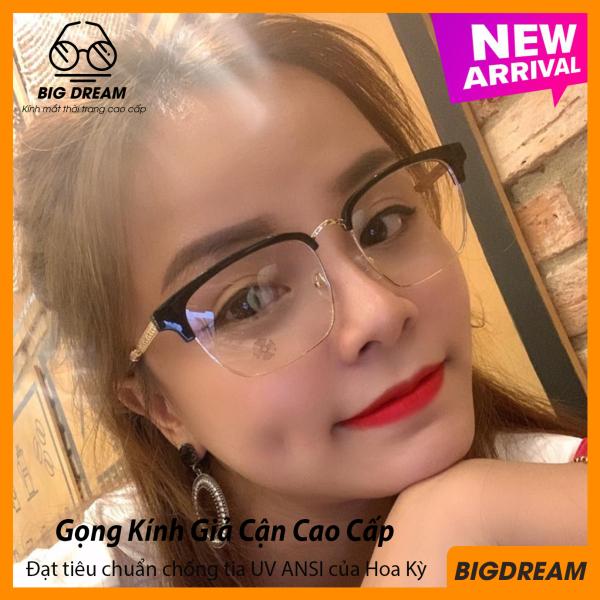 Mua Kính cận nam nữ cao cấp gọng kim loại BD8063 - Gọng kính giả cận Hàn Quốc, tròng chống tia UV- Bảo hành 12 tháng 1 đổi 1
