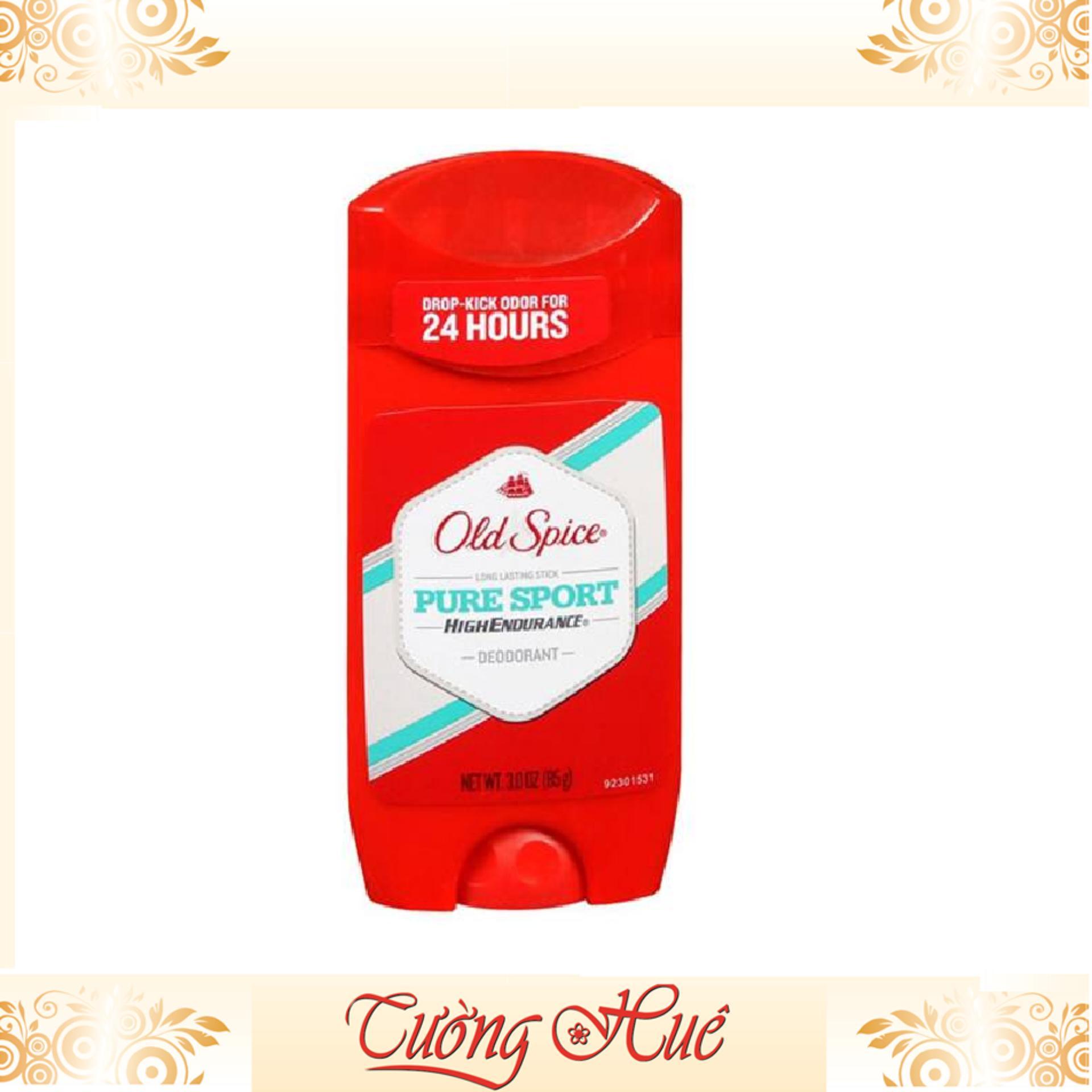 Lăn khử mùi Old Spice Pure Sport High Endurance 85g - đỏ chính hãng