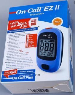 [TRỌN BỘ] Máy đo đường huyết On Call EZ II, Hàng chính hãng, gồm bút, kim chích máu và tặng thêm 25 que thử, BH trọn đời thumbnail