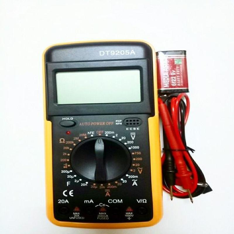 Đồng hồ đo vạn năng DT9205A kèm pin chuyên sửa điện tử