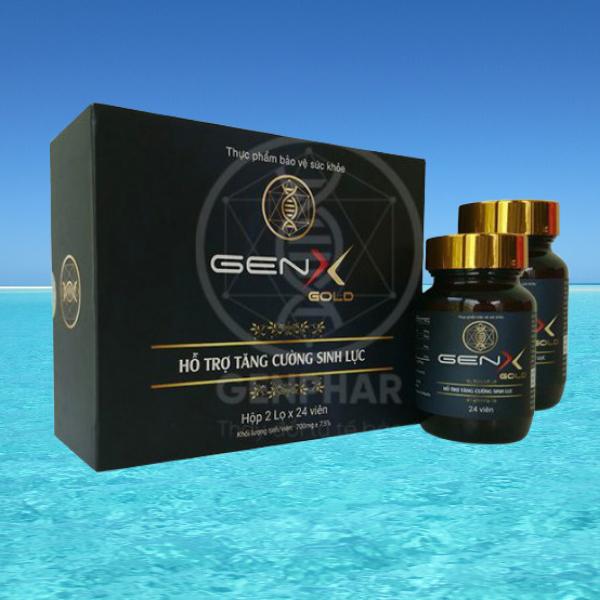 [COMBO 2 LỌ] GEN X GOLD Viên uống tăng cường sinh lý nam - 2 lọ x 24 viên