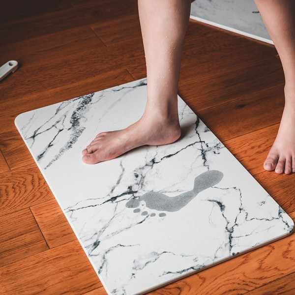 Thảm đá Nhật lau chân Siêu Thấm Hút, thảm siêu thấm bằng đá để nhà tắm Chống Trợt