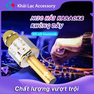 Mic Hát Karaoke Bluetooth Không Dây WS858 - Âm vang - Ấm - mic hát karaoke cầm tay mini thumbnail