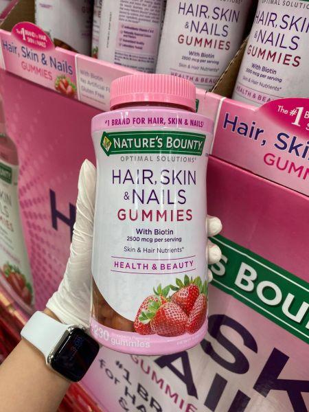 [Hàng Mỹ] Kẹo đẹp tóc Nature's Bounty Hair Skin & Nails Gummies