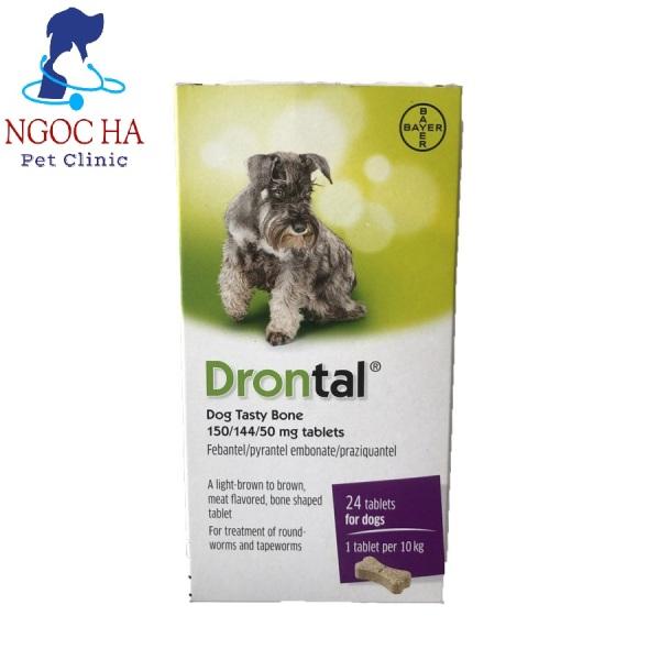 (Lẻ 1 viên) Drontal thuốc xổ giun cho chó và mèo