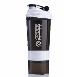 Bình Lắc Nhựa Spider 600ml Màu Trắng - Chính Hãng Amalife - Bình Lắc Shaker Tập Gym, Tập Thể Thao thumbnail