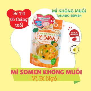 Mỳ Somen không muối dành cho bé ăn dặm từ 5 tháng tuổi TANABIKI 100g - Vị Bí Ngô Nhập khẩu chính ngạch từ Nhật Bản, có tem phụ (1 gói 10 lần ăn) thumbnail