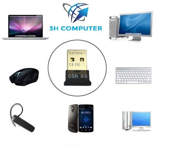 Giá USB tạo bluetooth cho pc, laptop dongle 4.0 CSR - loai 1tự nhận không cần cài đặt