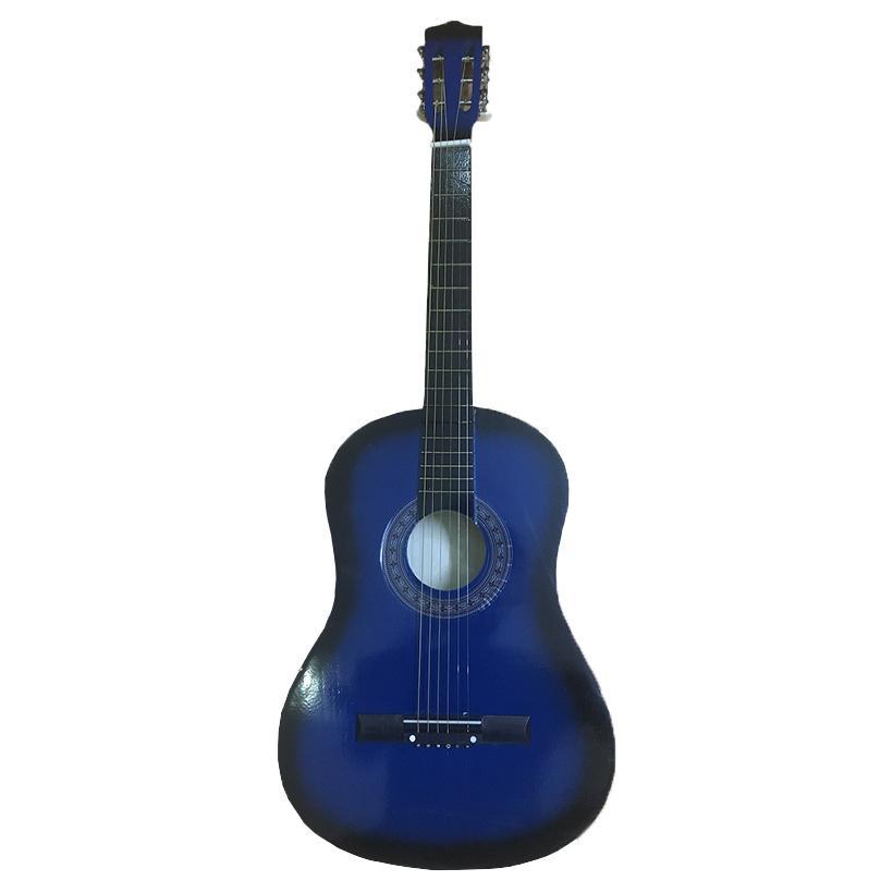 Đàn Guitar Acoustic GU02 Màu Xanh Dương Dáng D - Hàng có sẵn