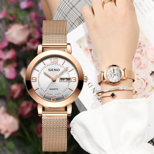 [KHÔNG XỊN, HOÀN TIỀN 100%] Đồng hồ nữ, chính hãng SENO, Size mặt 23mm, dây thép lưới cao cấp, mặt chống trầy xước, chống nước tốt - BẢO HÀNH 12 THÁNG bán chạy