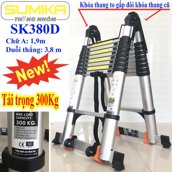 Thang nhôm rút đôi Sumika SK380D - Chữ A 1,9m duỗi thẳng 3,8m