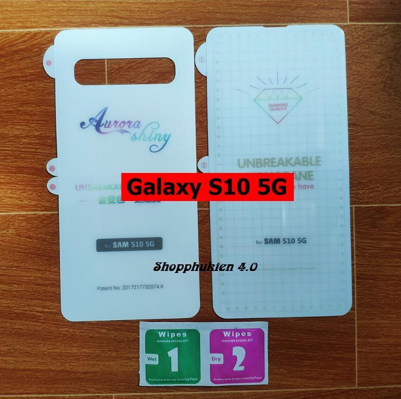 Giá Combo Dán full mặt trước, sau PPF cho SamSung Galaxy S10 5G chống xước