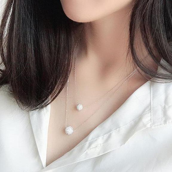 Dây Chuyền Silver Ý S925 Bảo Ngọc Jewelry Nữ Thanh Lịch DB-2324