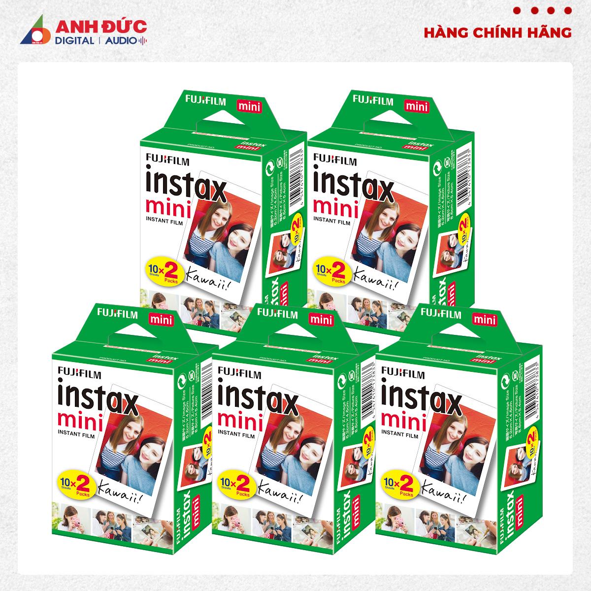 Chương Trình Ưu Đãi cho Combo 5 Hộp Film Chụp Hình Lấy Ngay Fujifilm Instax Mini 10X2/PK (100 Tờ)