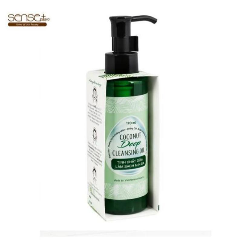 Dầu Tẩy Trang Sense Plus Coconut Deep Cleansing Oil Thiên Nhiên Sạch Sâu 170ml