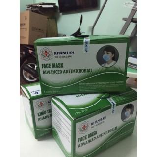 Hộp 50 Khẩu trang y tế Khánh An 4 lớp kháng khuẩn màu xanh - Hàng có sẵn ( hình shop tự chụp) Hìn thumbnail