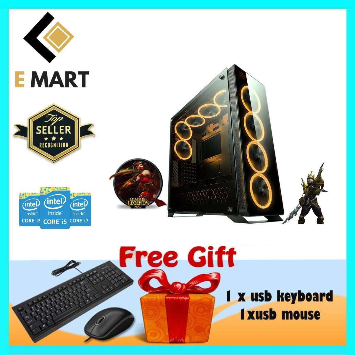 PC Chơi Được Game Khủng Core I7 3770, Ram 16GB, SSD 120GB, HDD 1TB, VGA  GTX1060TI 3GB EMGP75 + Quà Tặng