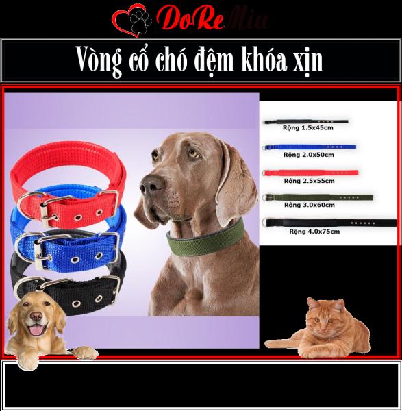 Doremiu- Vòng cổ đệm cho chó (Chọn 4 màu) - Vòng cổ chó mèo 5 size thích hợp mọi loại chó