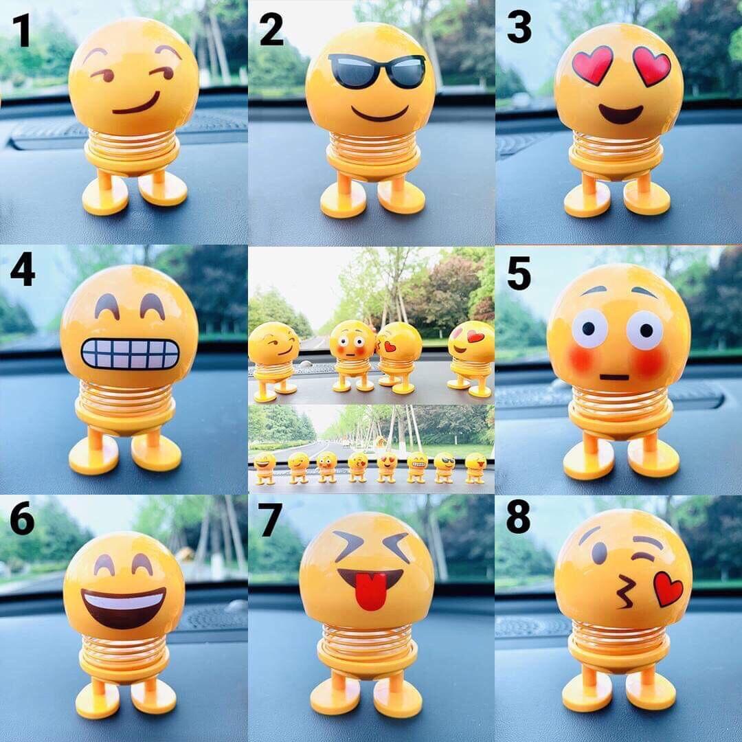 Combo 6 Con lò xo mặt cười Emoji nhún nhảy xả strees