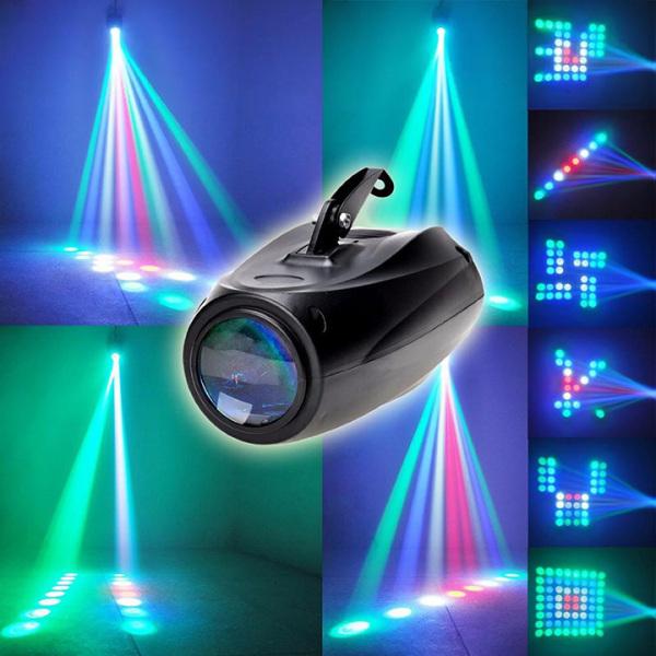 Đèn sân khấu 64 led laser DJ Party cảm biến âm thanh rbgw cho đám cưới bữa tiệc quán bar