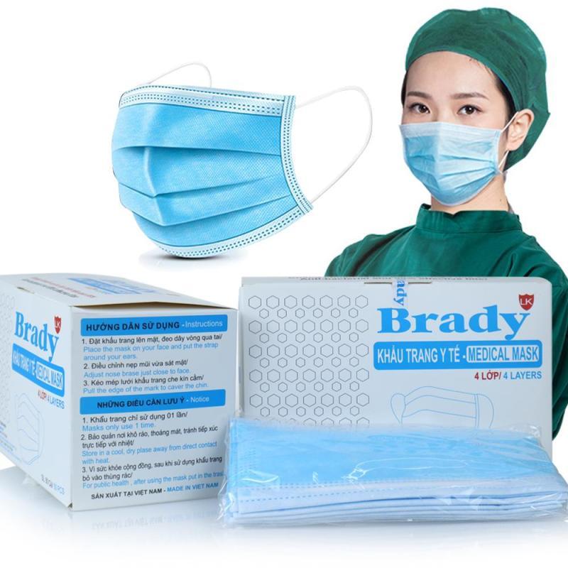 [Có sẵn] Khẩu trang y tế 4 lớp Kháng khuẩn 50 cái/hộp Chất lượng an toàn đáp ứng nhu cầu tiêu dùng