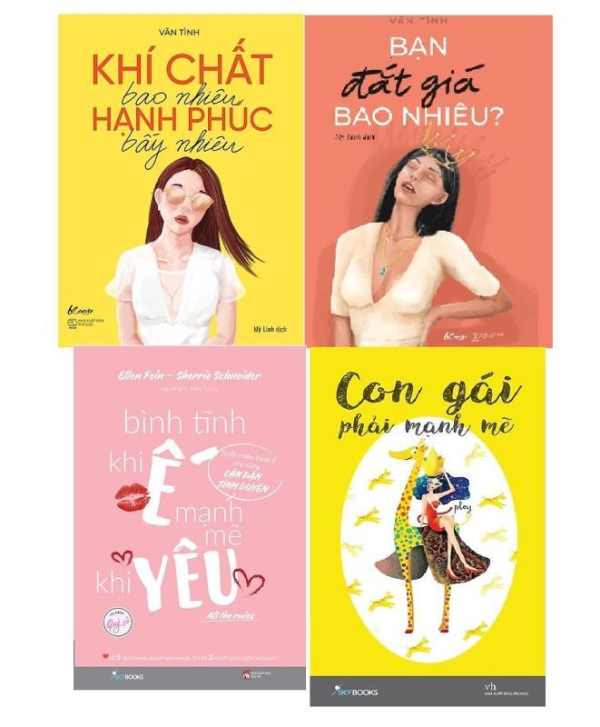 Mua Combo 4 sách: Khí chất bao nhiêu hạnh phúc bấy nhiêu, Bạn đắt giá bao nhiêu, Bình tĩnh khi ế mạnh mẽ khi yêu, Con gái phải mạnh mẽ