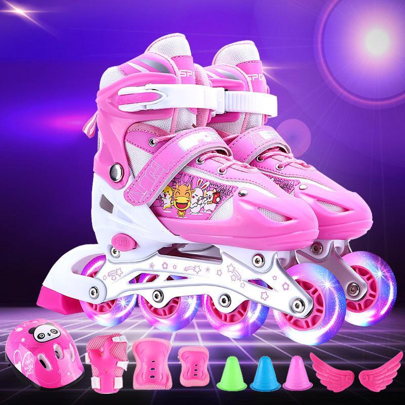 Mua Giày Patin Thời Trang Có Đèn Led Full - Tặng đầy đủ mũ bảo hiểm, phụ kiện chơi và đồ bảo hộ